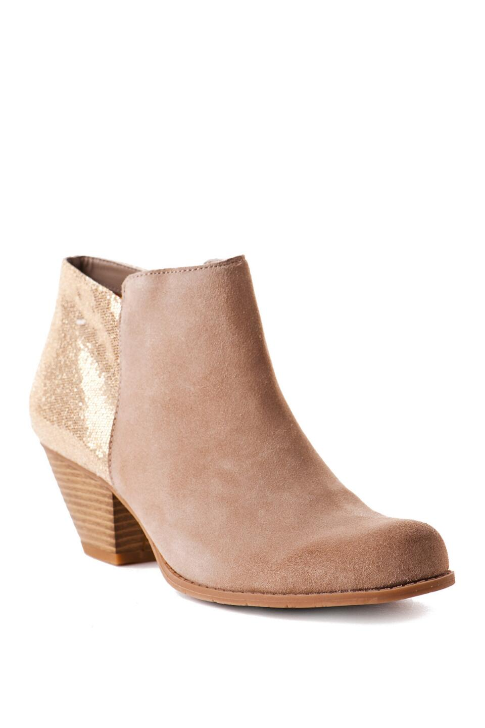 BC Footwear Shoes, Eager Beaver Metallic Bootie-  sand-cl