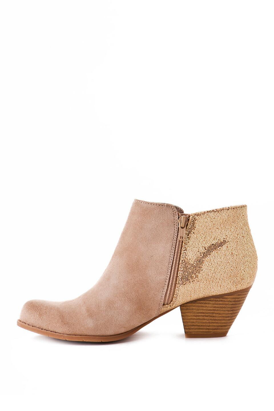 BC Footwear Shoes, Eager Beaver Metallic Bootie-  sand-clleft