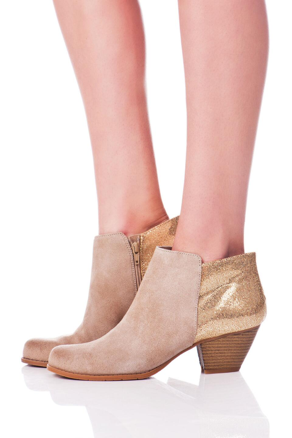 BC Footwear Shoes, Eager Beaver Metallic Bootie-  sand-clmodel