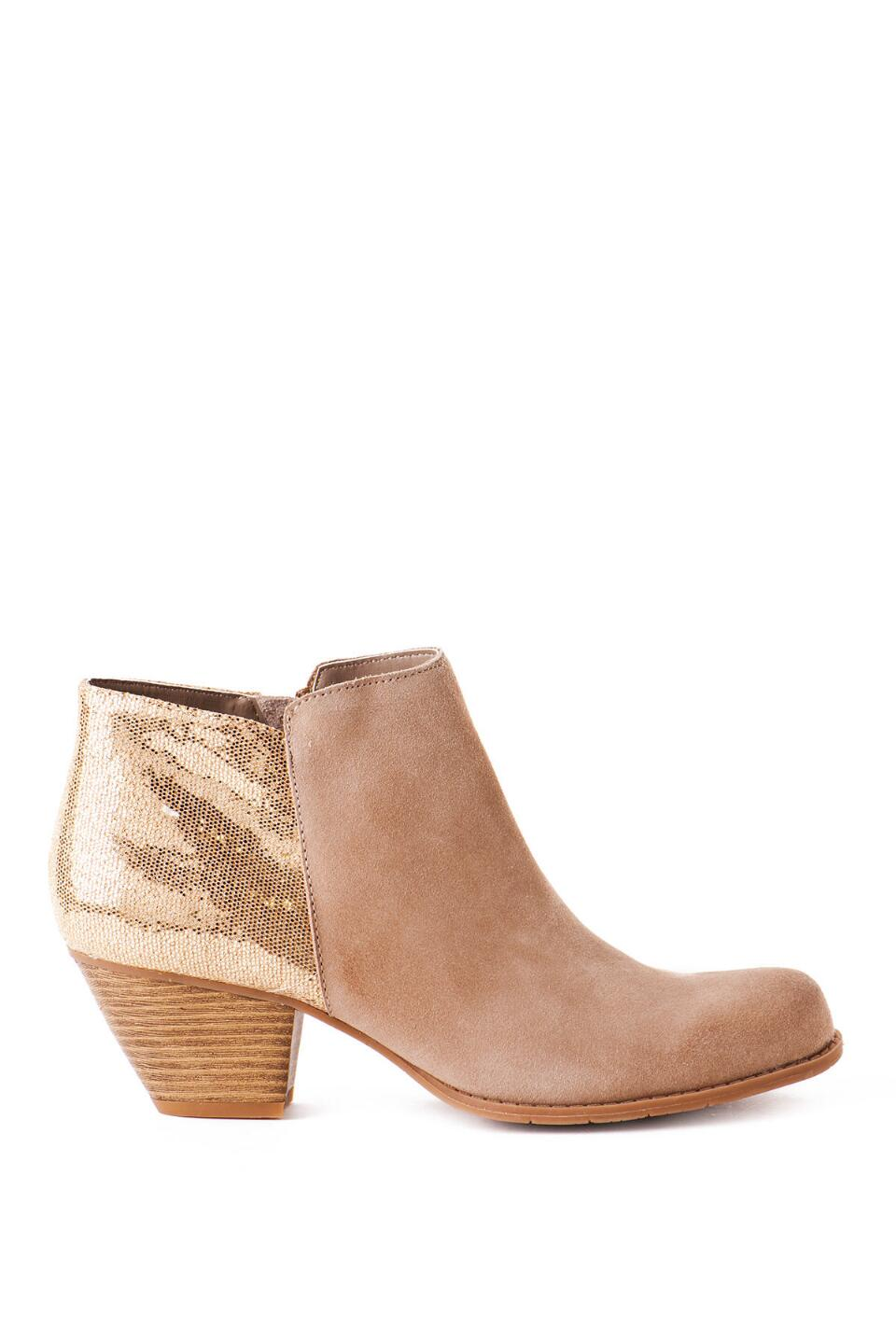 BC Footwear Shoes, Eager Beaver Metallic Bootie-  sand-clright