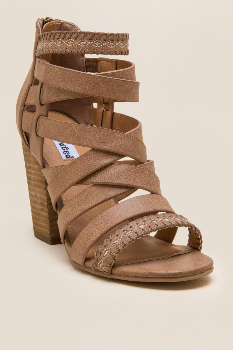 Not Rated Feelin Strappy Woven Heel