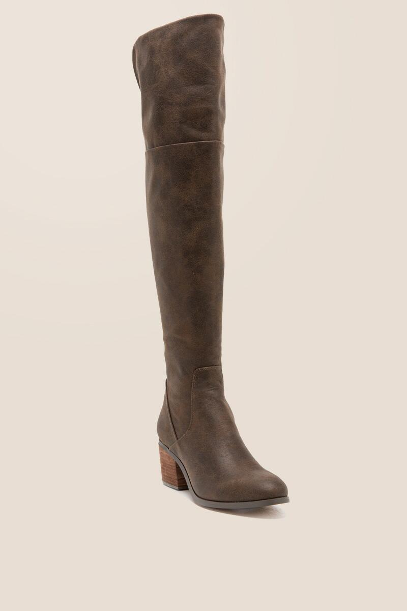 Report - Fisher Distressed Over The Knee Boot