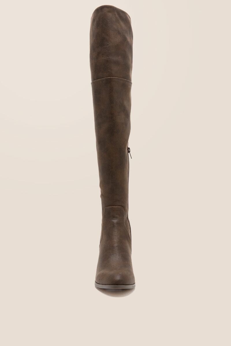 Report - Fisher Distressed Over The Knee Boot-  brwn-clfront