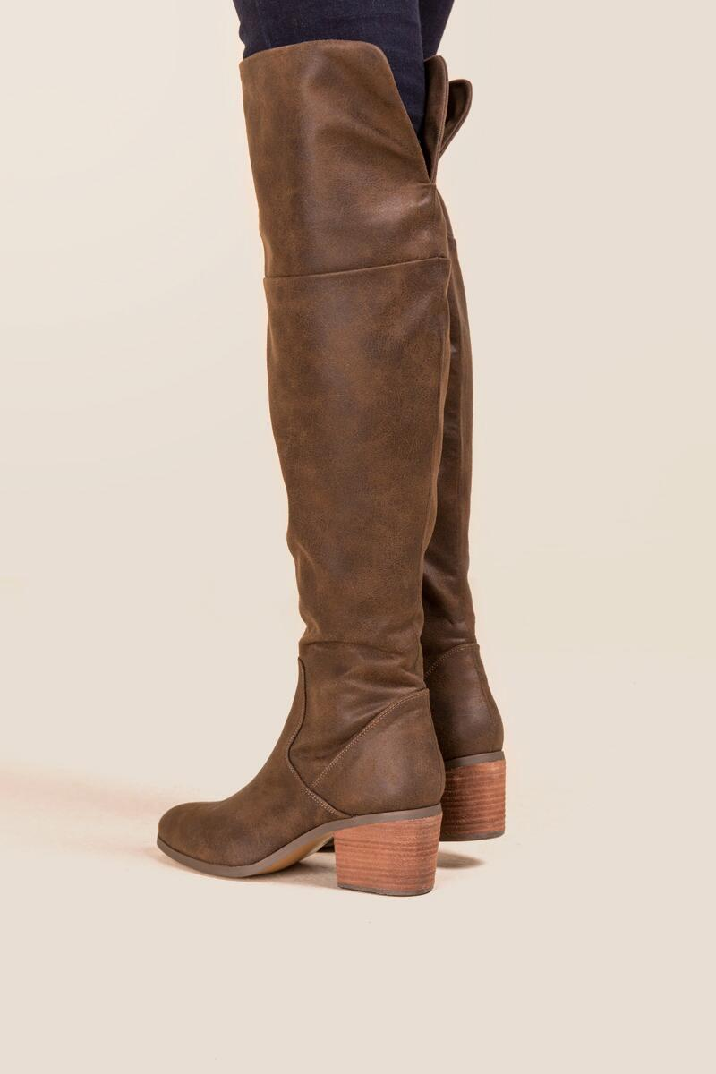 Report - Fisher Distressed Over The Knee Boot-  brwn-clmodel2
