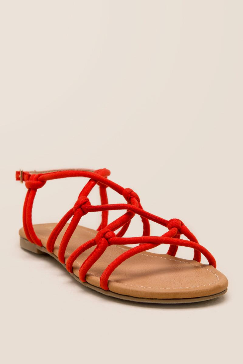 Report Gail Knotted Strappy Sandal-  org-cl