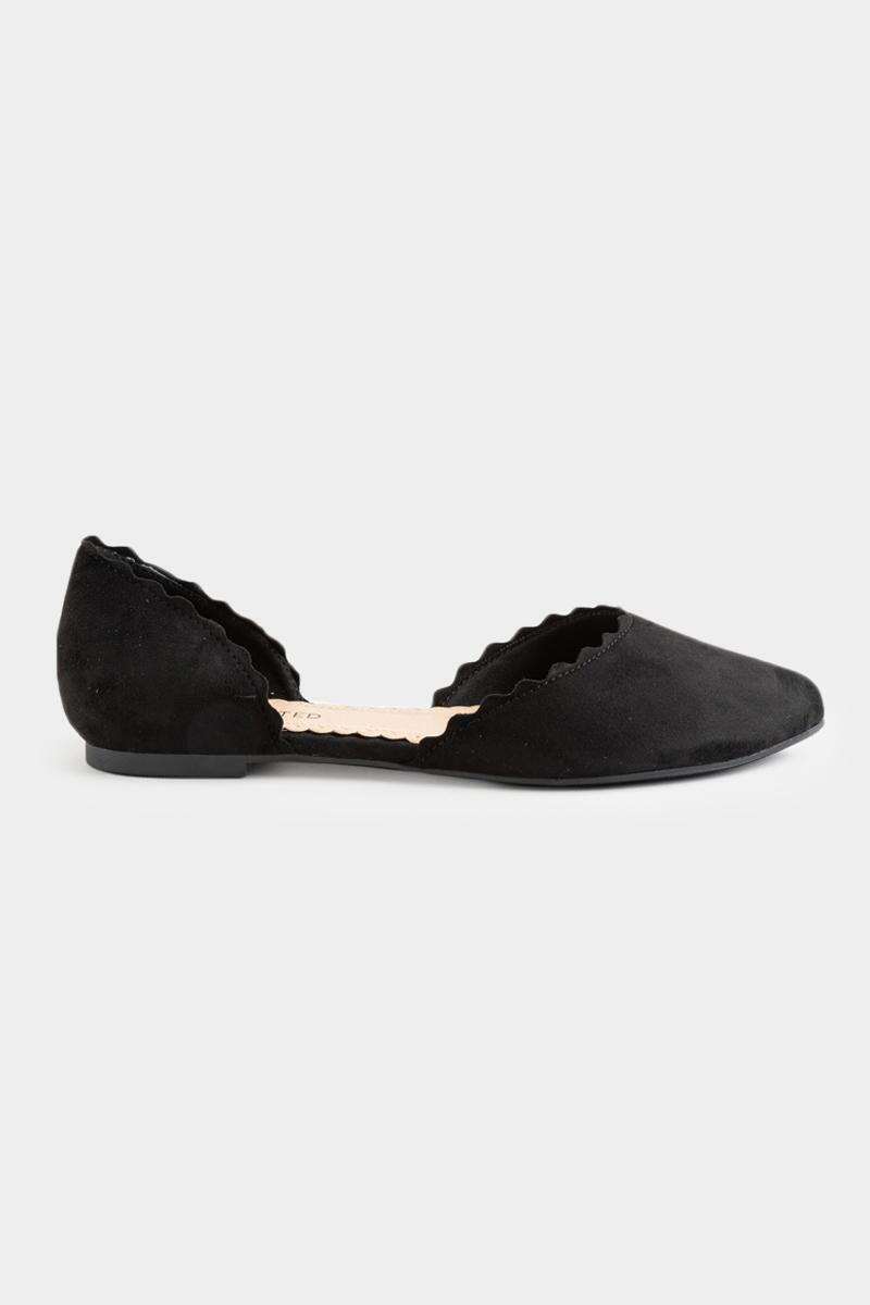 Restricted Scallop Edge Flats-  blk-cl2