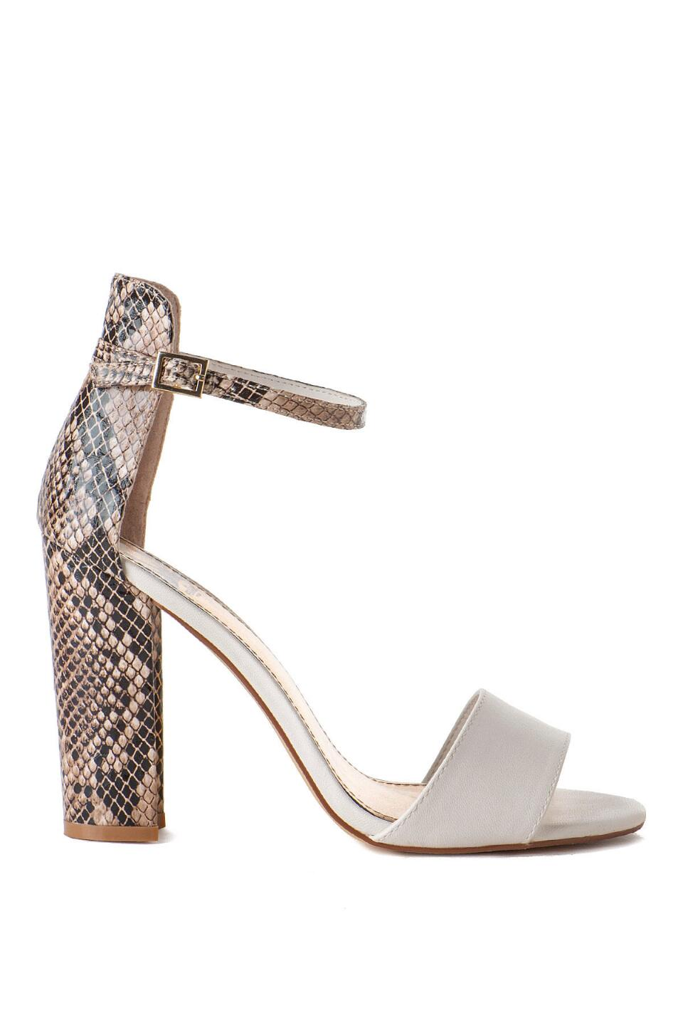 Hedwig Sandal Heel-  white-clright