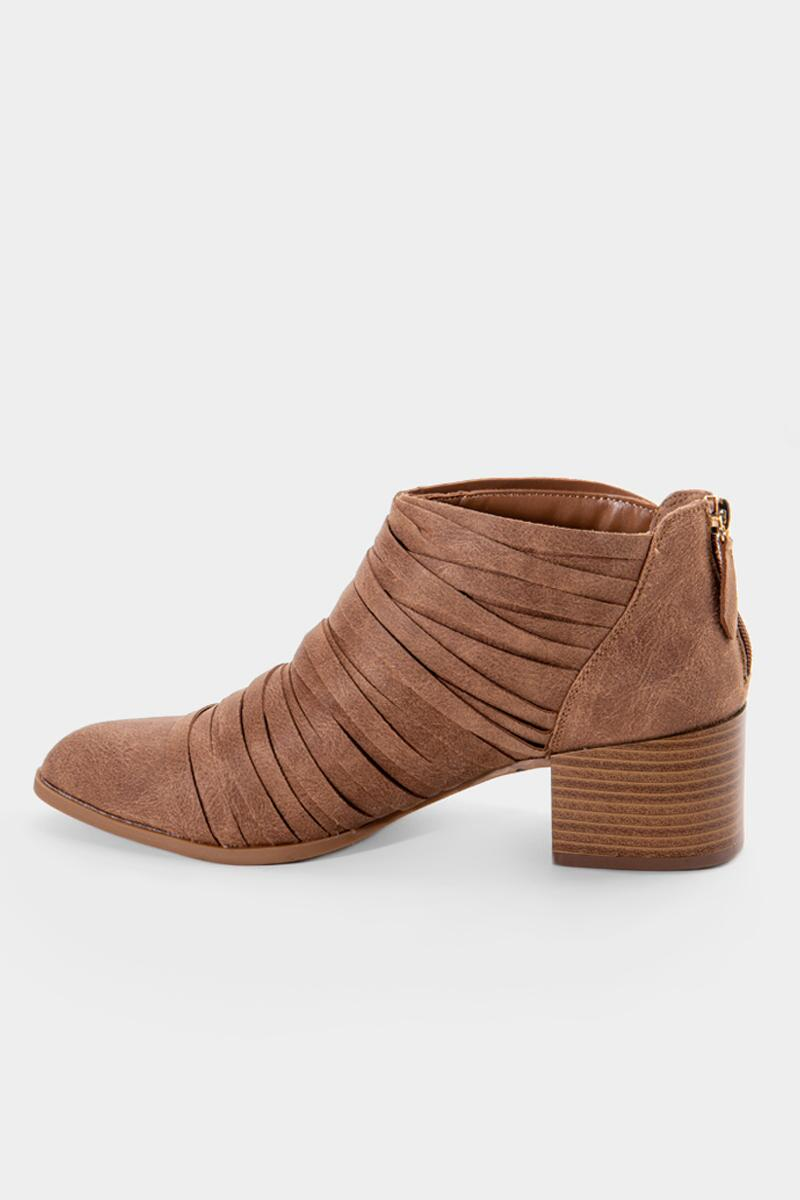 Fergalicious Iggy Cut Straps Ankle Boot-  tan-cl4