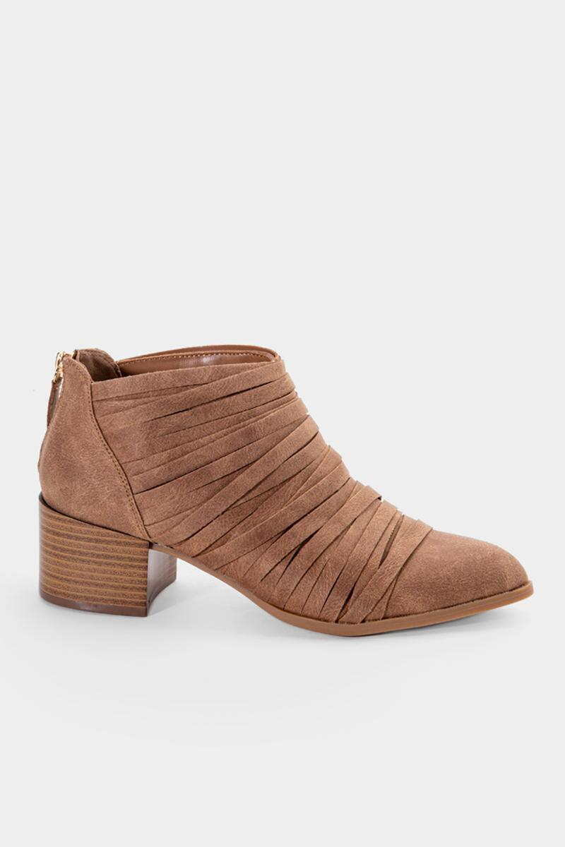 Fergalicious Iggy Cut Straps Ankle Boot-  tan-cl5