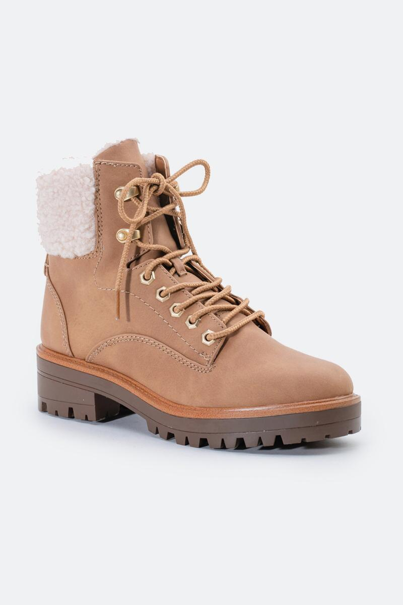 indigo rd. Irard Shearling Hiker Boot-  tan-cl