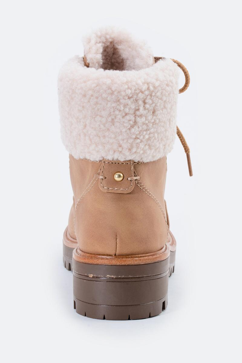 indigo rd. Irard Shearling Hiker Boot-  tan-cl2