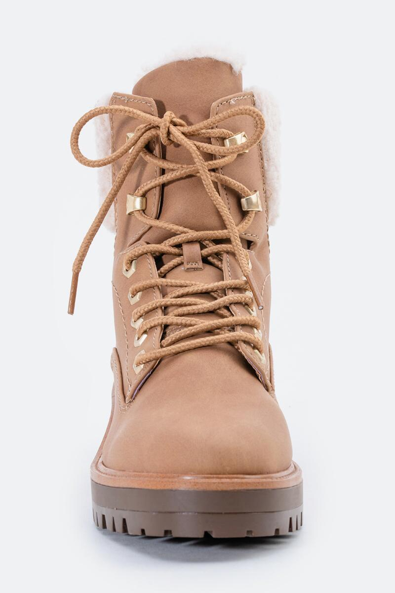 indigo rd. Irard Shearling Hiker Boot-  tan-cl3
