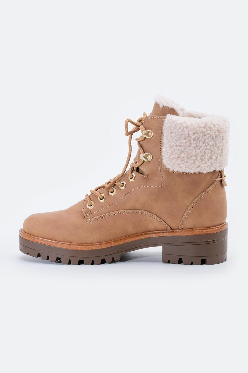 indigo rd. Irard Shearling Hiker Boot-  tan-cl4