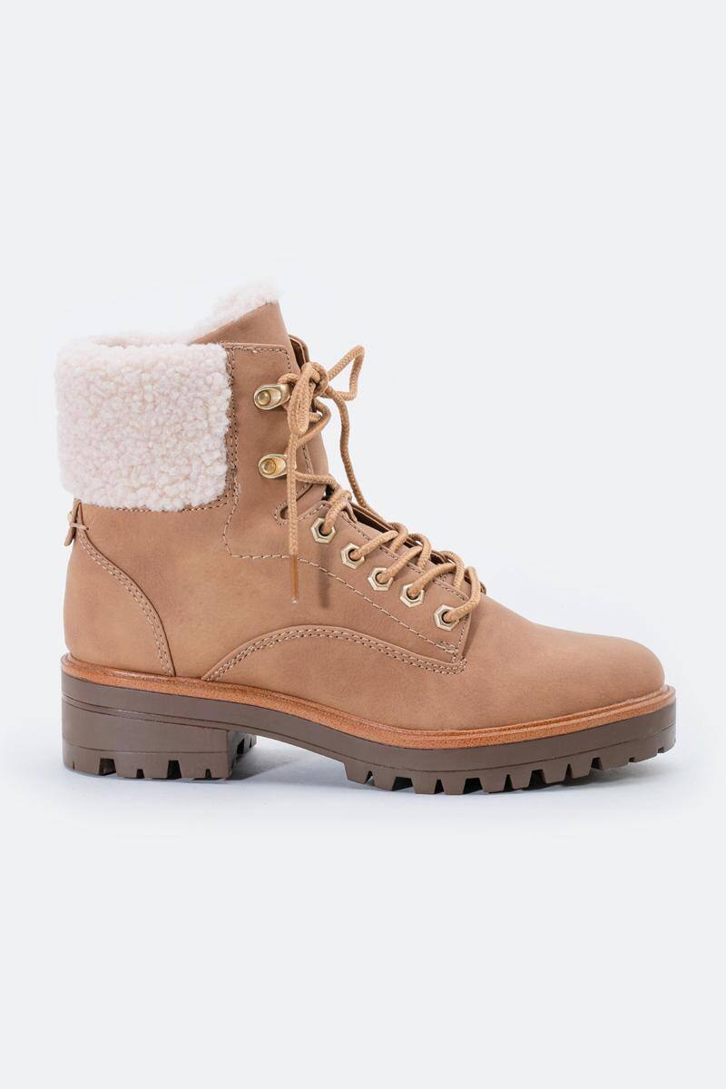 indigo rd. Irard Shearling Hiker Boot-  tan-cl5