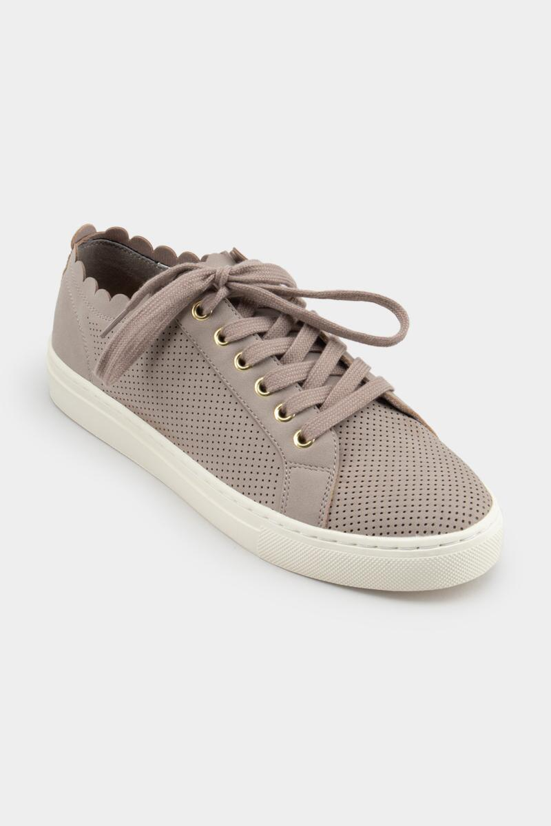 indigo rd. Kyrie Scallop Ankle Sneaker-Natural