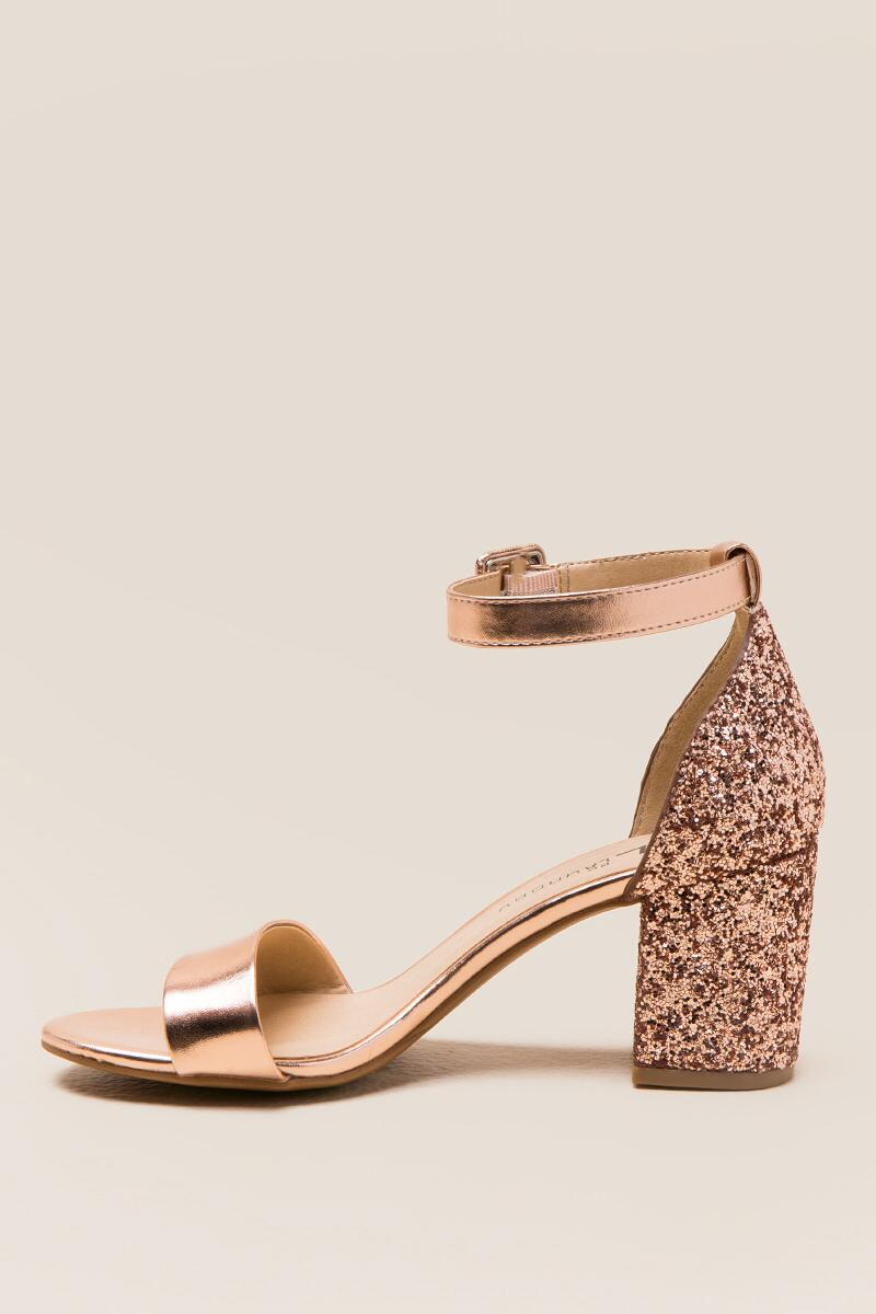 CL by Laundry Jodie Glitter Block Heel-  rgold-clleft