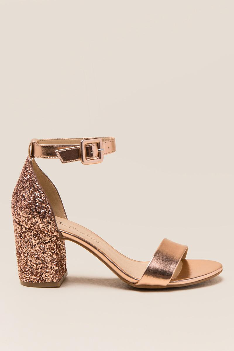CL by Laundry Jodie Glitter Block Heel-  rgold-clright