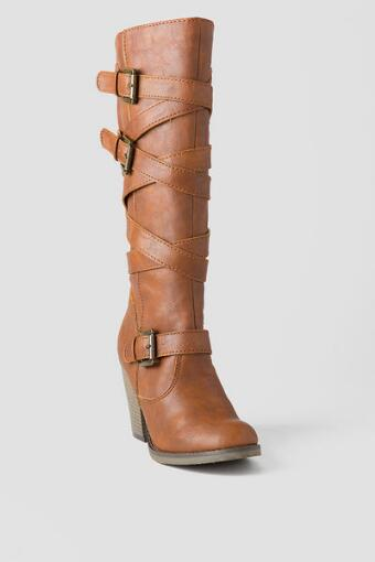 Madden Girl  Shoes, Kick Back Buckle Boot