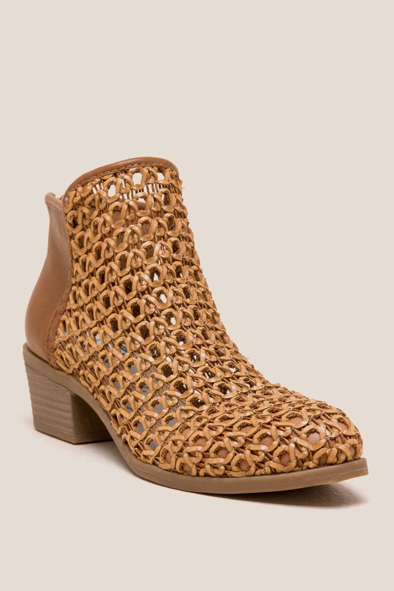 855bc4e5539 Solid DV by Dolce Vita Koda Basket Weave Ankle Boot | francesca's