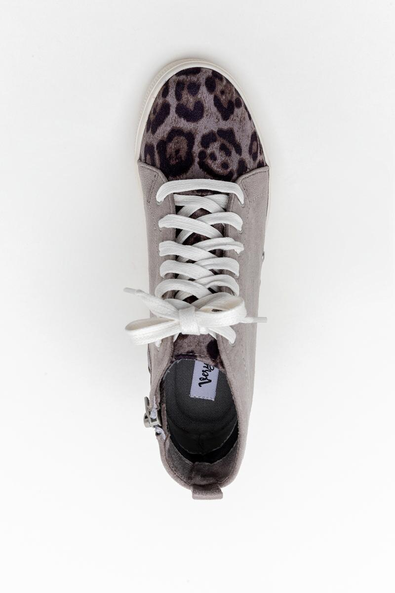 Very G Lets Go Crazy Wedge Sneaker-  gray-cl6