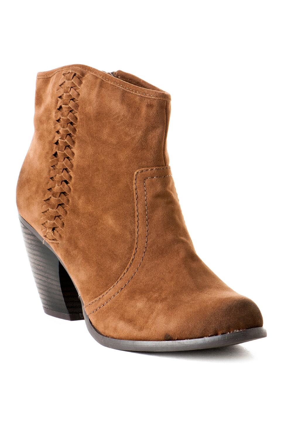 Lotus Braided Bootie-  tan-cl