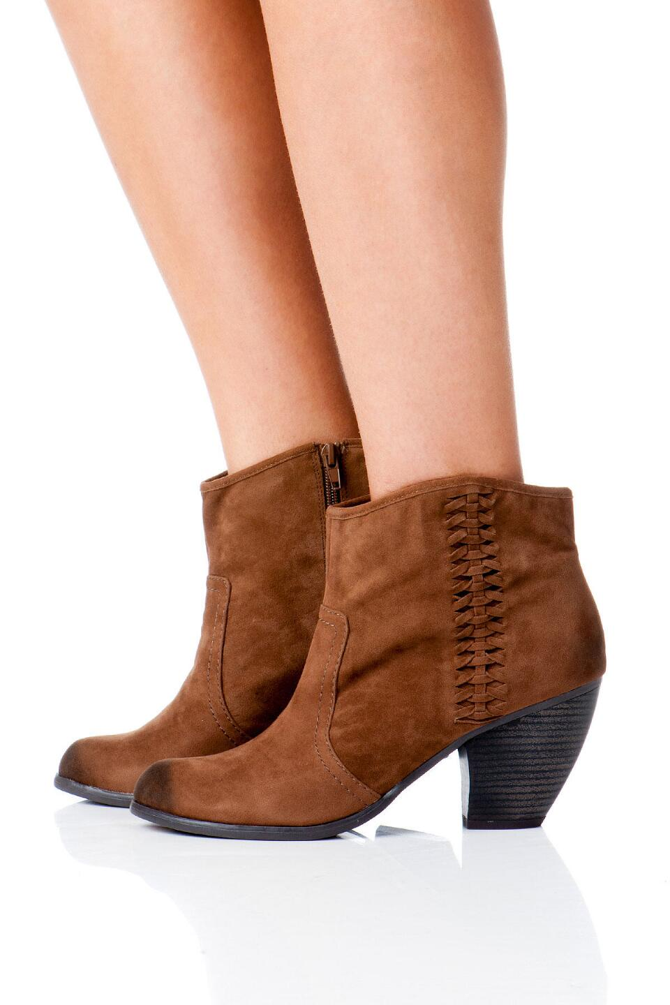 Lotus Braided Bootie-  tan-clmodel