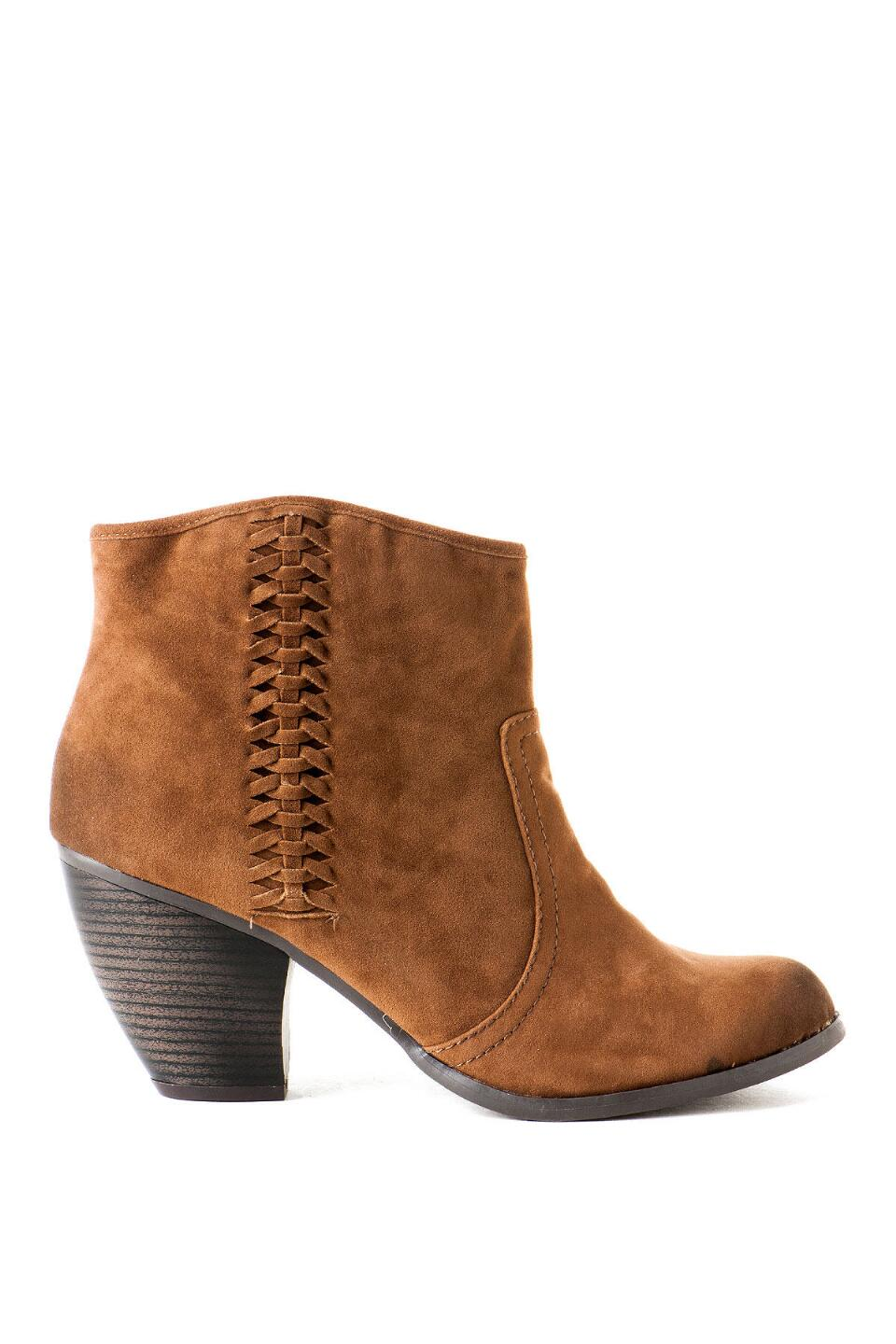Lotus Braided Bootie-  tan-clright