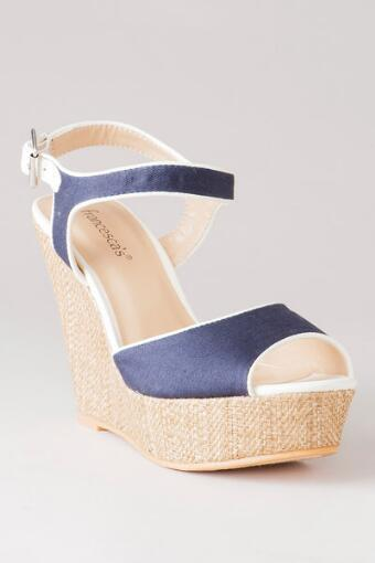 Marcie Canvas Wedge