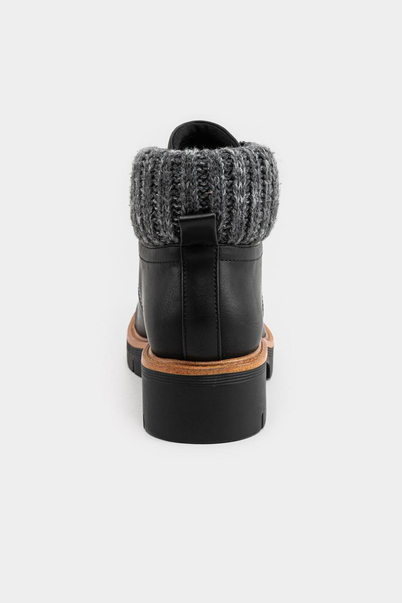 MIA Low Sweater Back Boot-Black 2