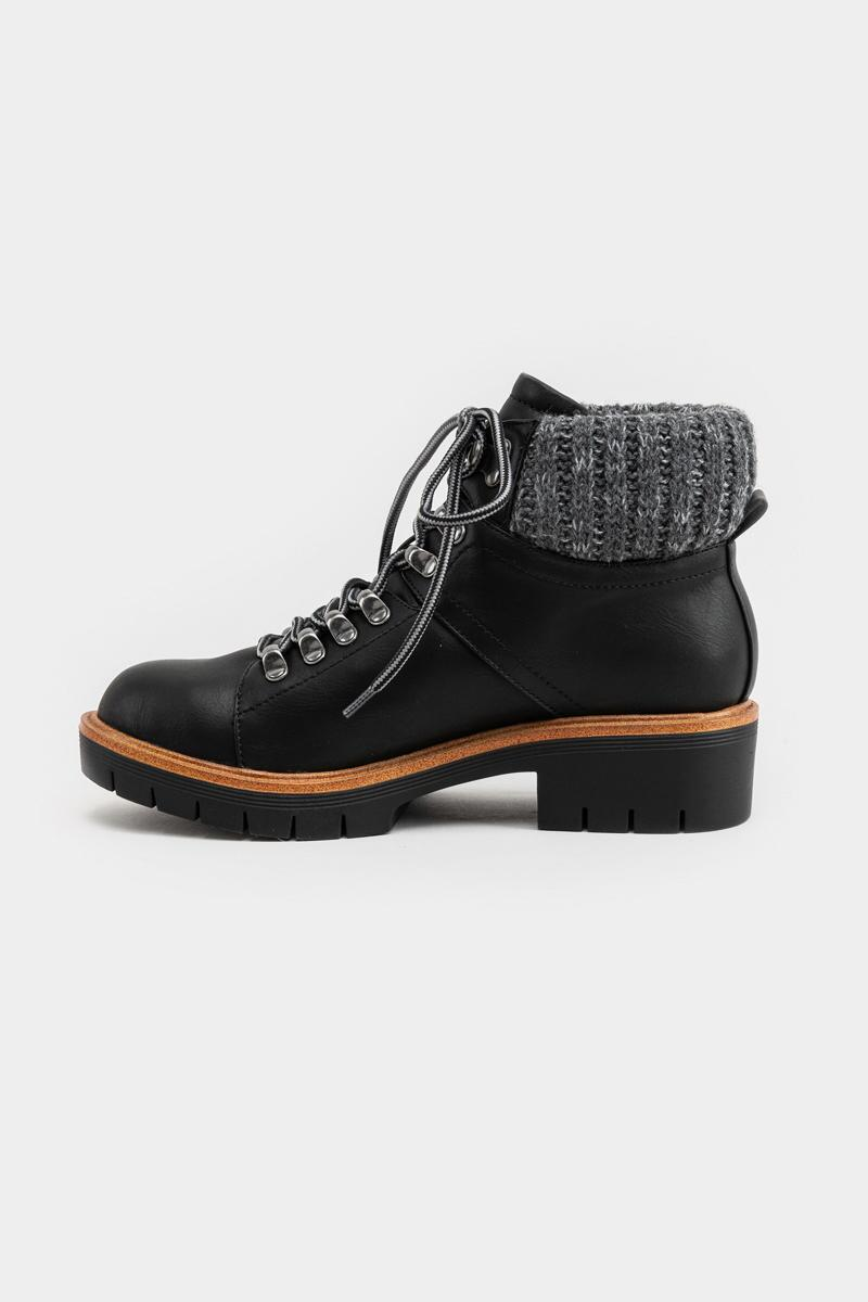 MIA Low Sweater Back Boot-Black 5