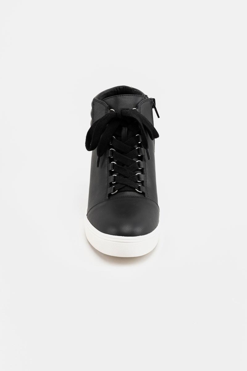 MIA Quilted Back Sneaker Wedge- Black 3