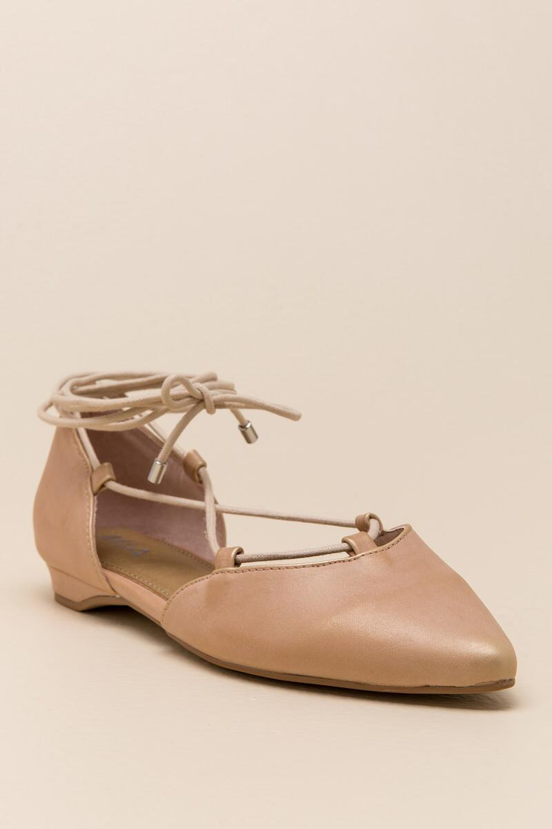 MIA, Mirna Lace-Up Ballet Flat