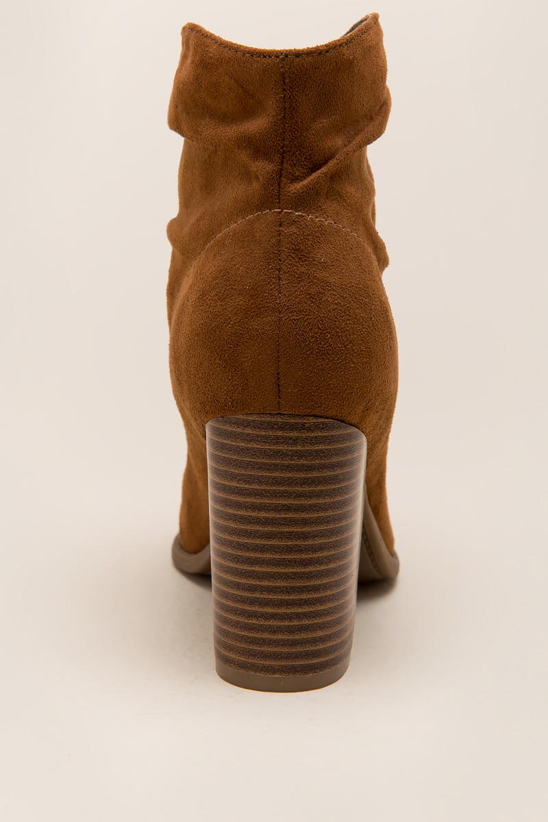 Indigo Rd. - Obie Slouchy Ankle Boot-  tan-clback