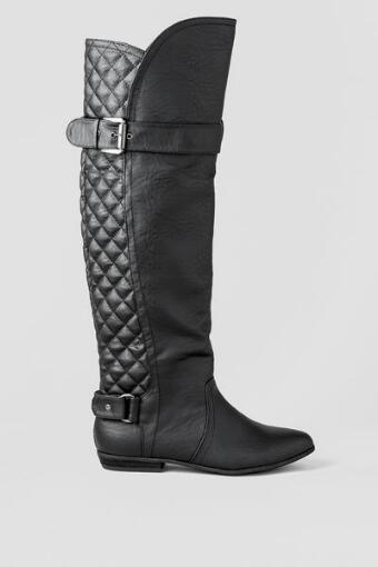 Oleander Quilted Over the Knee Boot
