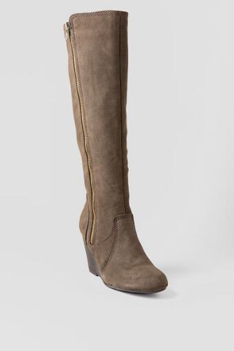 Ornate Wedge Boot in Brown