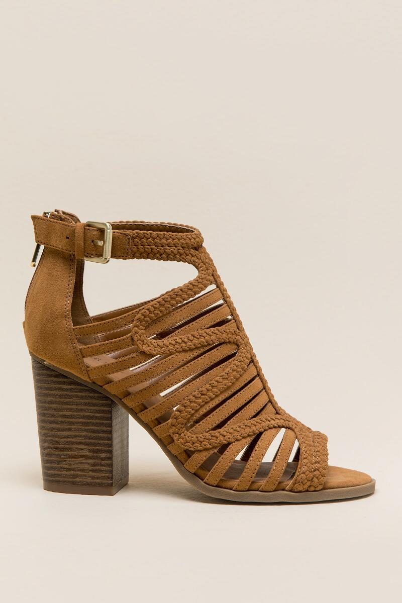 Indigo Rd Paige Caged Block Heel-  tan-clright