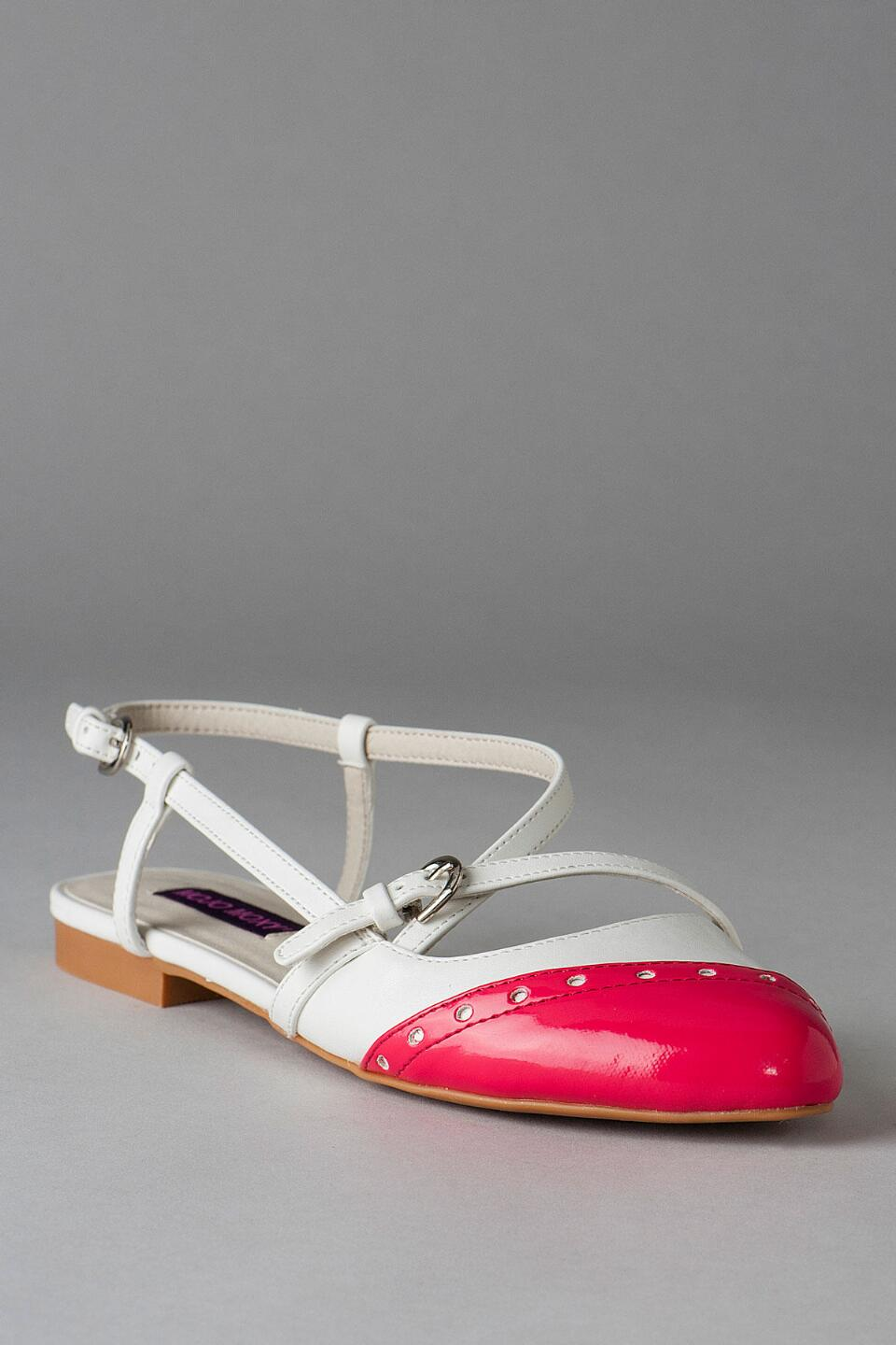 Dolce by Mojo Moxy Shoes, Parquet Two-Tone Flat-  white-cl
