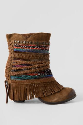 Naughty Monkey, Poncho Suede Fringe Bootie