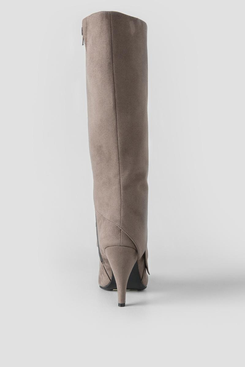Fergalicious, Prime Knee High Boot-  gray-clback