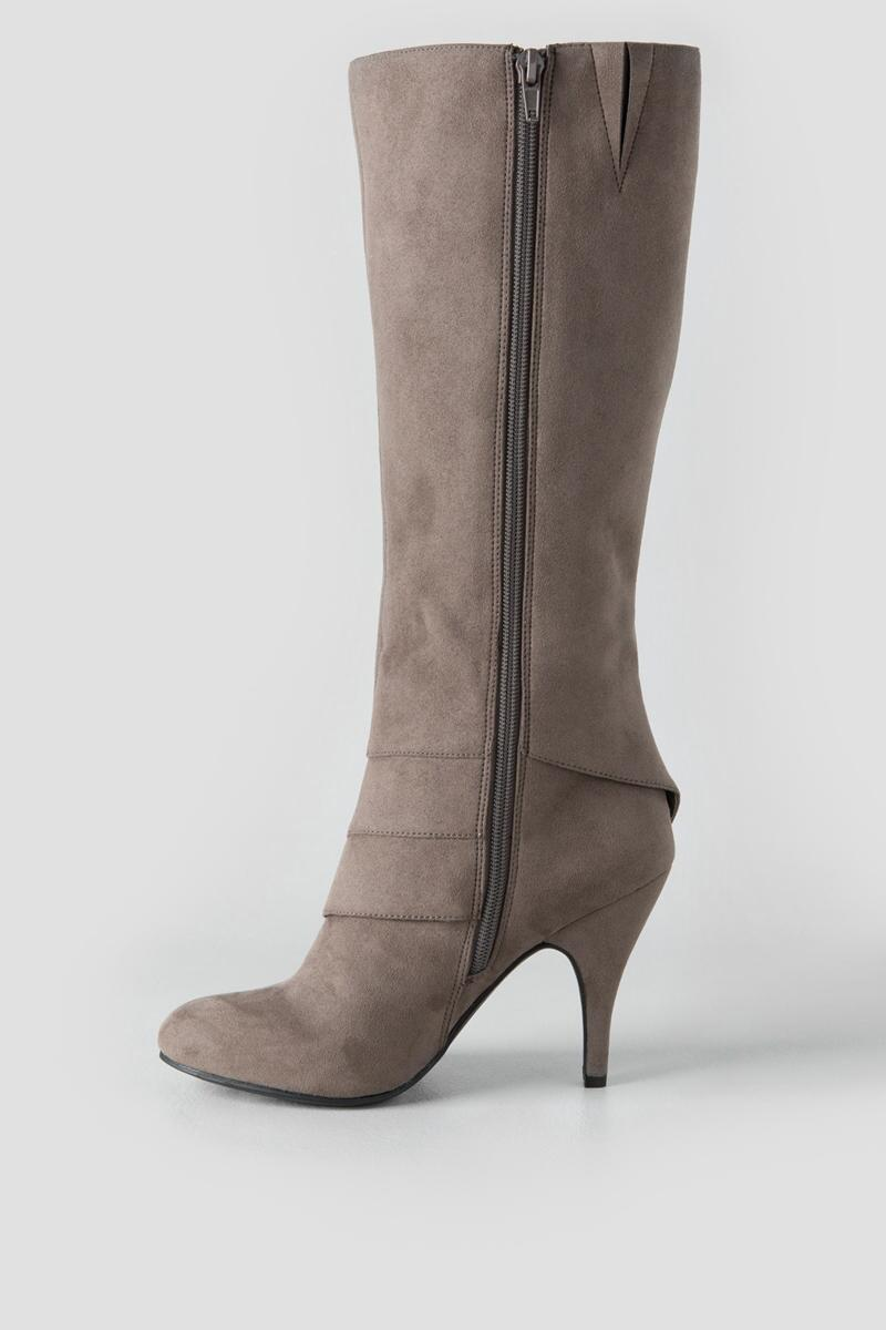 Fergalicious, Prime Knee High Boot-  gray-clleft