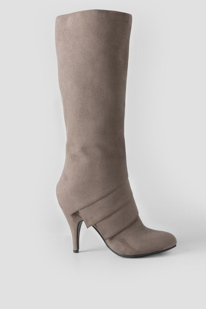Fergalicious, Prime Knee High Boot-  gray-clright