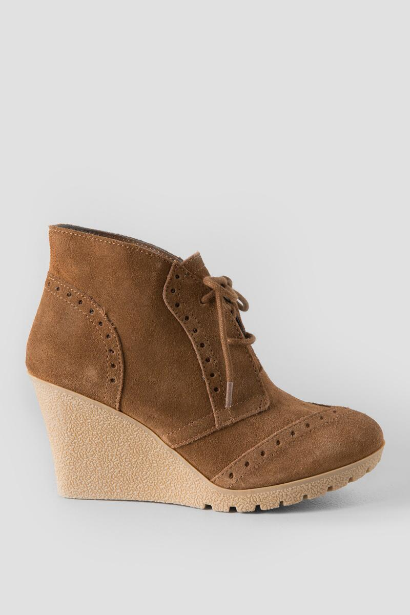 Mia, Raphael Wedge Bootie-  rust-clright