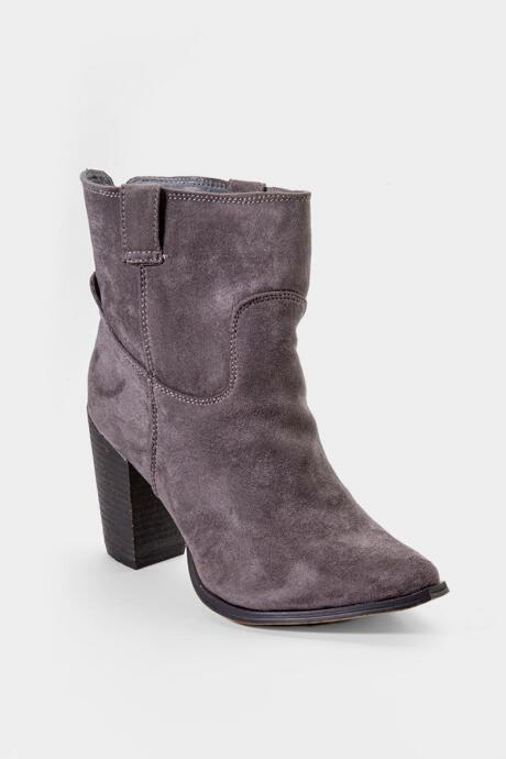 Very G Rosie Western Ankle Boot - Gray