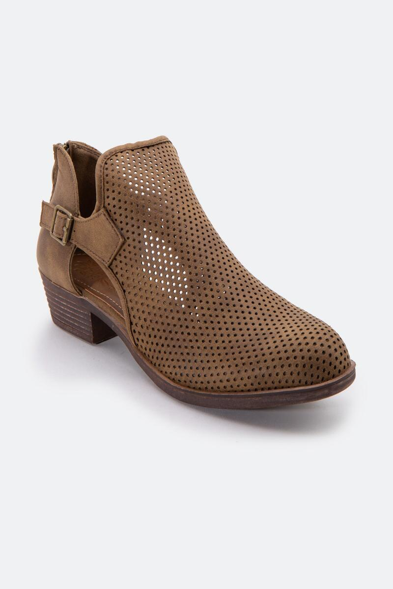 Sugar™  Tales Perforated Ankle Boot-Taupe