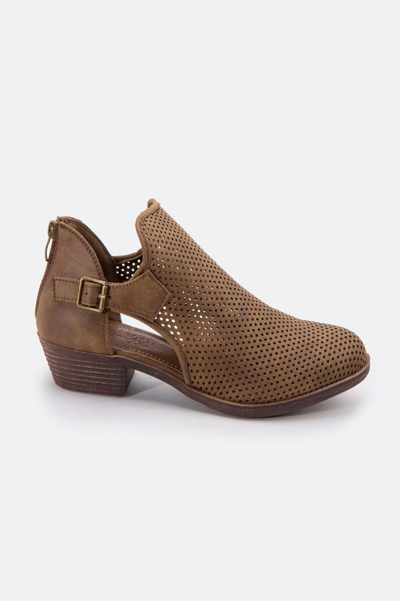 Sugar™  Tales Perforated Ankle Boot-Taupe 4
