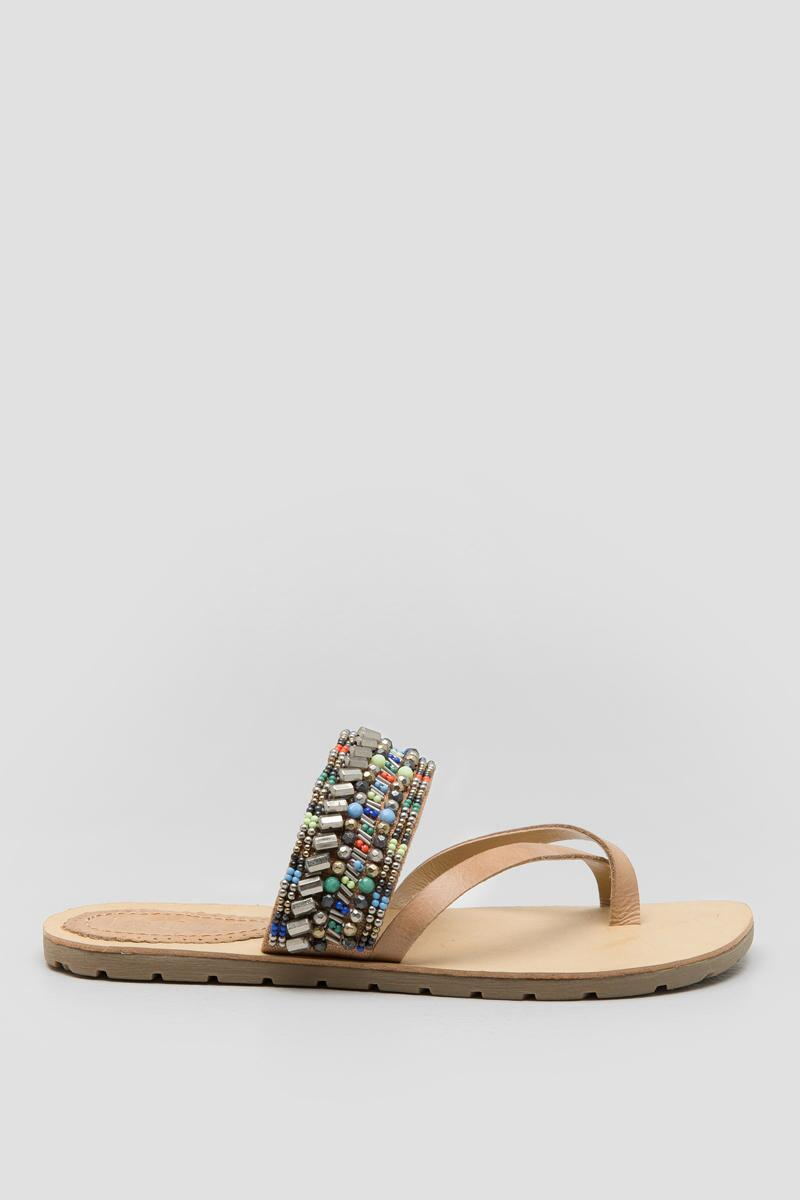 Latigo, Shaman Embellished Sandal-  nat-clright