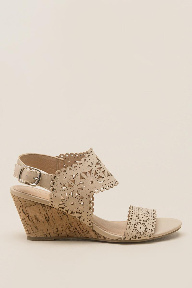 XOXO, Shamira Cutout Demi Wedge-  nude-clright