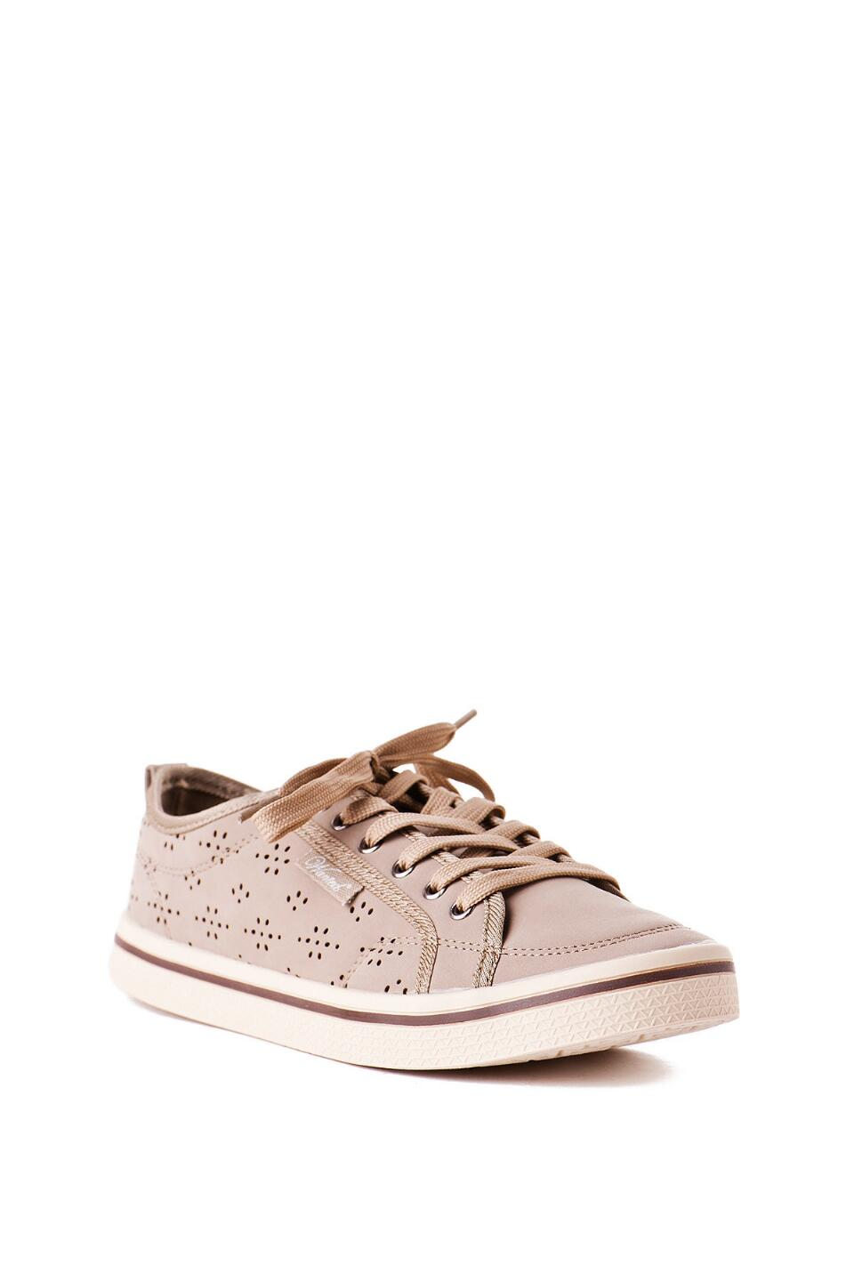 Slope Lace Up Sneaker in Taupe-  nat-cl