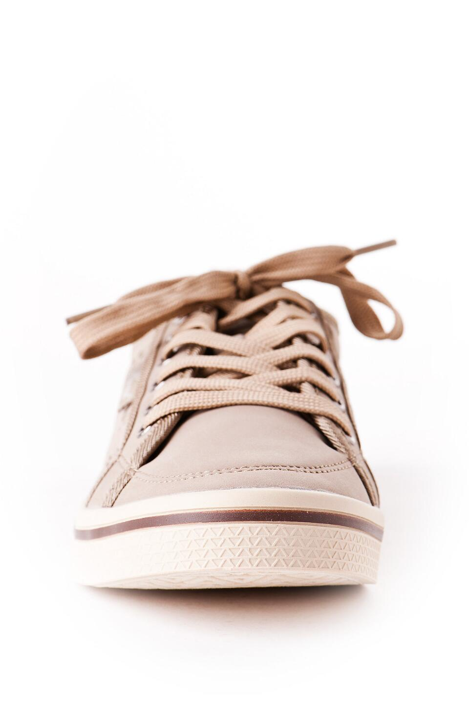 Slope Lace Up Sneaker in Taupe-  nat-clfront