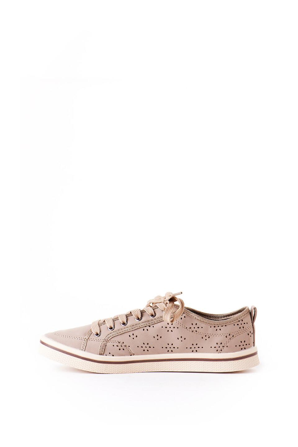 Slope Lace Up Sneaker in Taupe-  nat-clleft